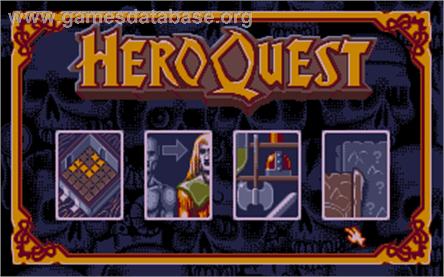 In game image of Hero Quest: Return of the Witch Lord on the Atari ST.