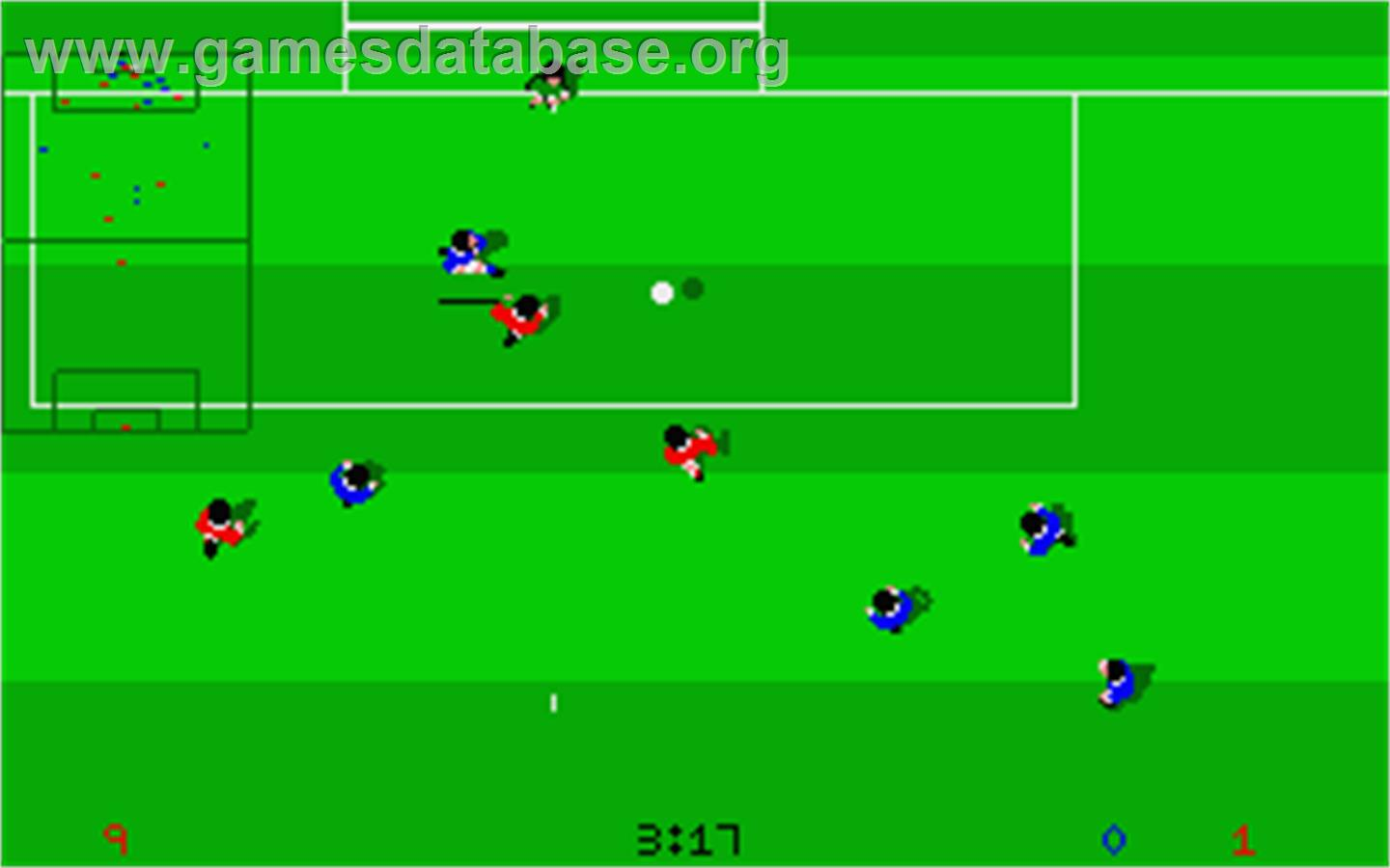 In game image of Kick Off: Extra Time on the Atari ST.