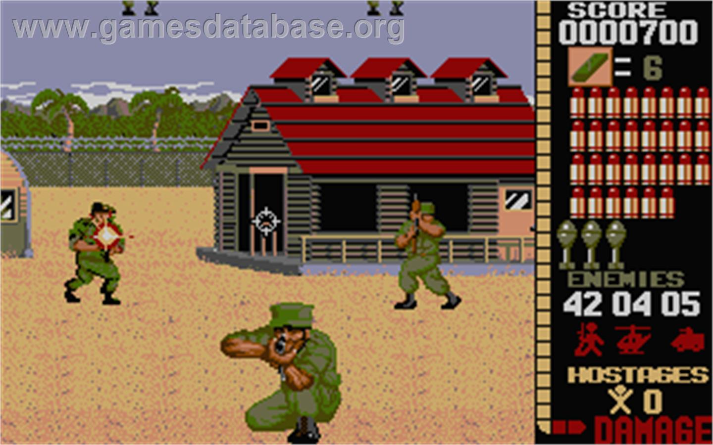 In game image of operation wolf on the atari st