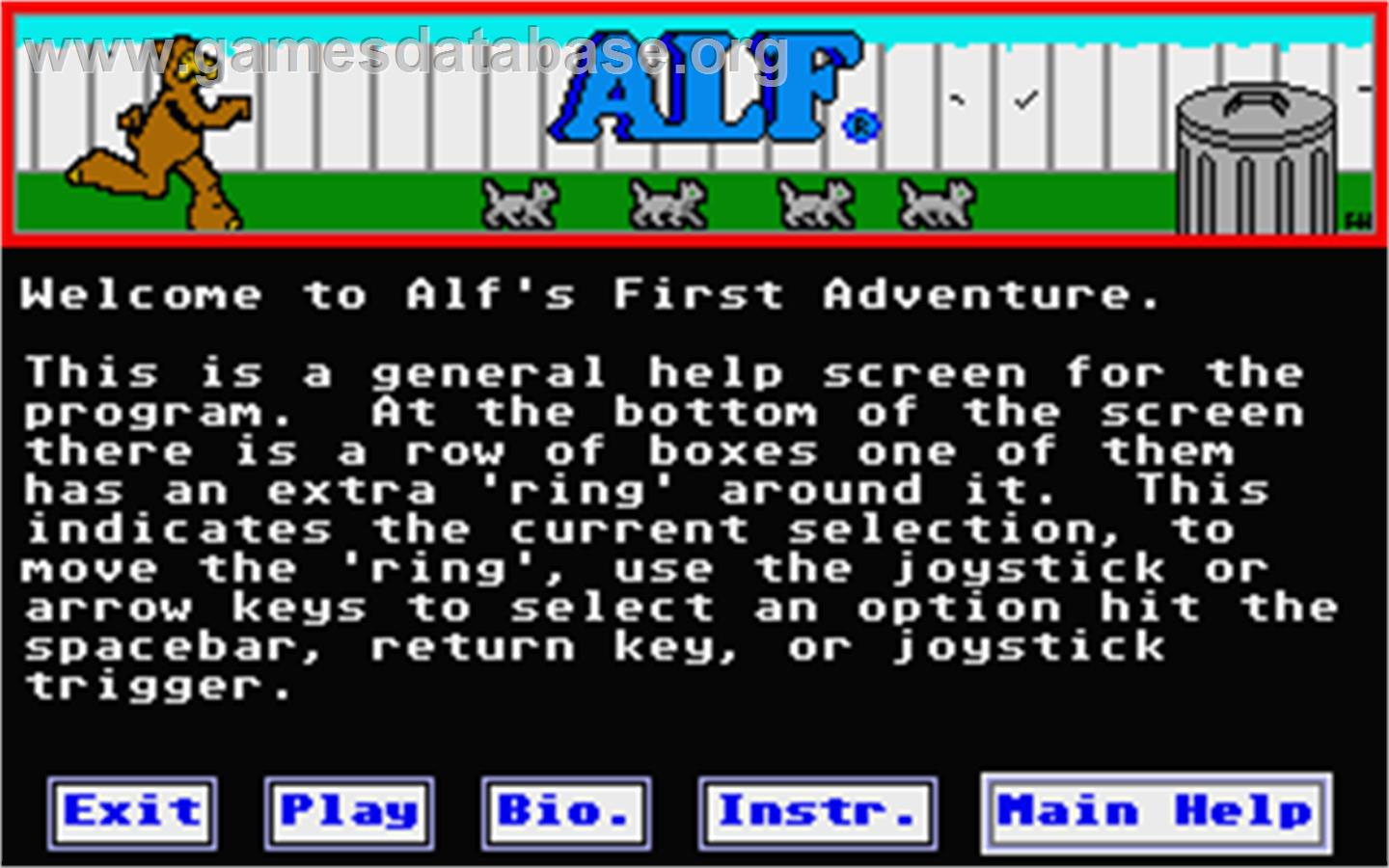 game image of Ruff and Reddy in the Space Adventure on the Atari ST