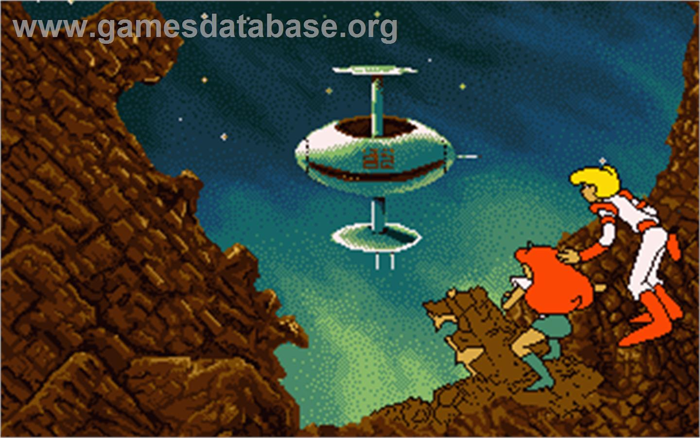 In game image of Space Ace on the Atari ST.