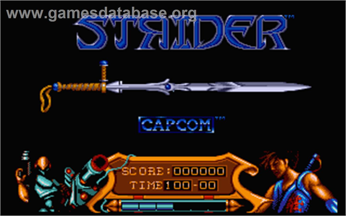 In game image of Strider on the Atari ST.