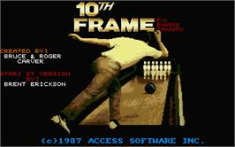Title screen of 10th Frame on the Atari ST.