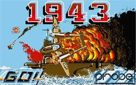 Title screen of 1943: The Battle of Midway on the Atari ST.
