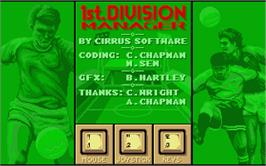 Title screen of 1st Division Manager on the Atari ST.