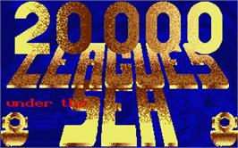 Title screen of 20,000 Leagues Under the Sea on the Atari ST.