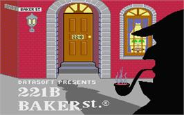 Title screen of 221 B Baker St. on the Atari ST.