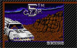 Title screen of 5th Gear on the Atari ST.