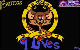 Title screen of 9 Lives on the Atari ST.