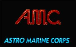 Title screen of A.M.C.: Astro Marine Corps on the Atari ST.
