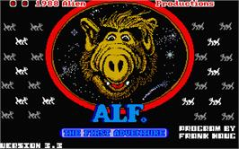 Title screen of ALF: The First Adventure on the Atari ST.