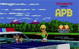 Title screen of APB - All Points Bulletin on the Atari ST.