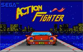 Title screen of Action Fighter on the Atari ST.