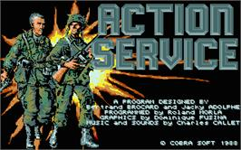 Title screen of Action Pack on the Atari ST.