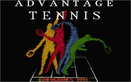 Title screen of Advantage Tennis on the Atari ST.
