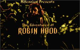 Title screen of Adventures of Robin Hood on the Atari ST.