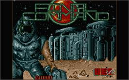 Title screen of Aerial Combat ST on the Atari ST.