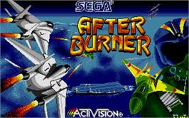 Title screen of After Burner on the Atari ST.