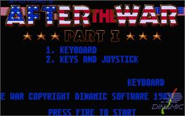 Title screen of After the War on the Atari ST.