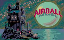 Title screen of Airball on the Atari ST.
