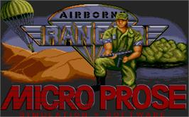 Title screen of Airborne Ranger on the Atari ST.