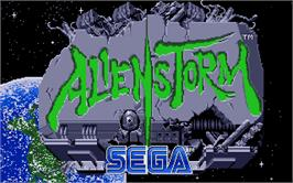 Title screen of Alien Storm on the Atari ST.