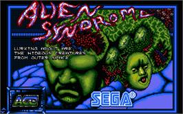 Title screen of Alien Syndrome on the Atari ST.