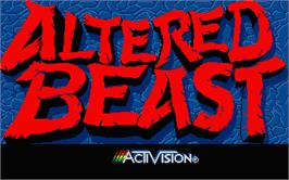 Title screen of Altered Beast on the Atari ST.