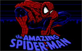 Title screen of Amazing Spider-Man on the Atari ST.
