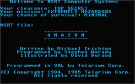Title screen of Amazon on the Atari ST.