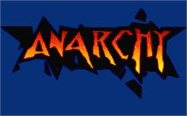 Title screen of Anarchy on the Atari ST.