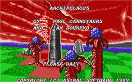 Title screen of Archipelagos on the Atari ST.