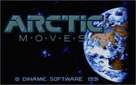 Title screen of Arctic Moves on the Atari ST.