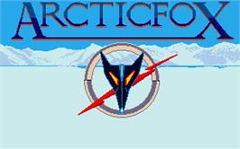 Title screen of Arcticfox on the Atari ST.