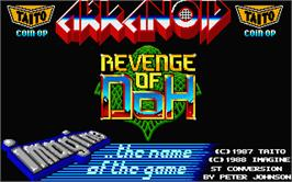 Title screen of Arkanoid - Revenge of DOH on the Atari ST.