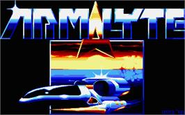 Title screen of Armalyte on the Atari ST.