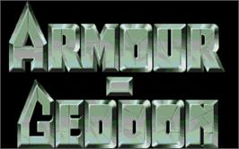 Title screen of Armour-Geddon on the Atari ST.
