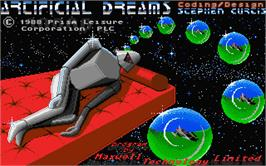 Title screen of Artificial Dreams on the Atari ST.