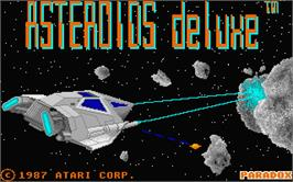 Title screen of Asteroids Deluxe on the Atari ST.