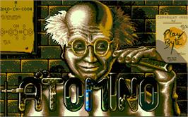 Title screen of Atomino on the Atari ST.
