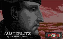 Title screen of Austerlitz on the Atari ST.
