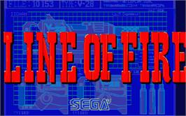 Title screen of Axe of Rage on the Atari ST.