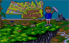 Title screen of Axel's Magic Hammer on the Atari ST.