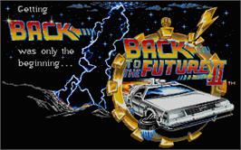 Title screen of Back to the Future 2 on the Atari ST.