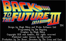 Title screen of Back to the Future 3 on the Atari ST.