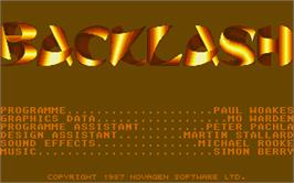 Title screen of Backlash on the Atari ST.