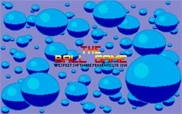 Title screen of Ball Game on the Atari ST.