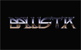 Title screen of Ballistix on the Atari ST.