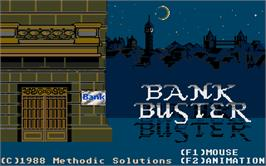 Title screen of Bank Buster on the Atari ST.