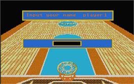 Title screen of Basket Manager on the Atari ST.
